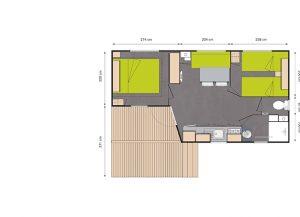 plan mobil-home 734T