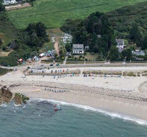 Camping le goh velin vue sur la plage