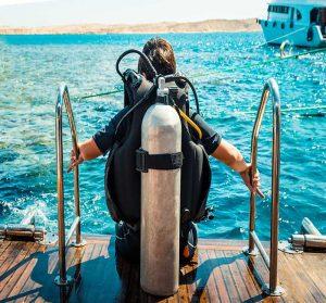 camping morbihan bord de mer : plongée sous marine